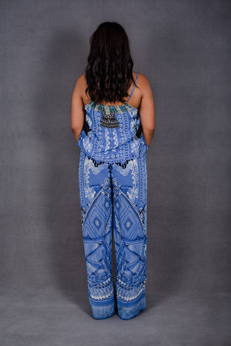 Camilla Drawstring Jumpsuit with Frill in A World Between The Warp | Camilla