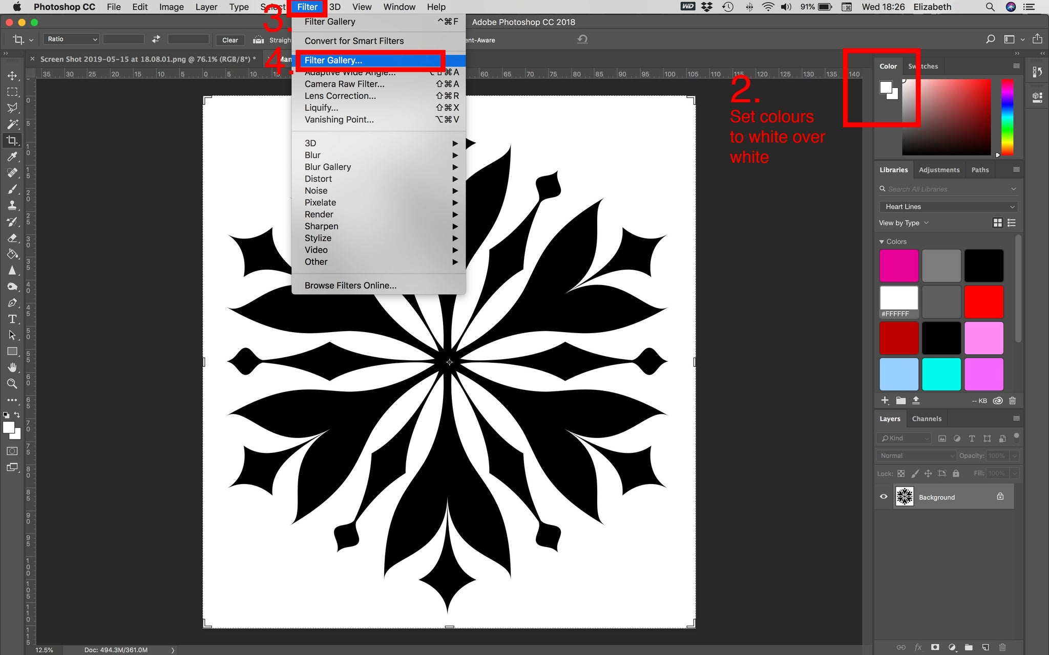 Outlining Stencil Tutorial (using Photoshop) | Download geometric
