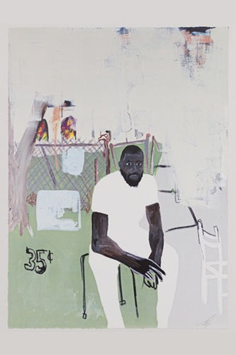 Jammie Holmes 'A Self Portrait of an Artist on Narrow Street'