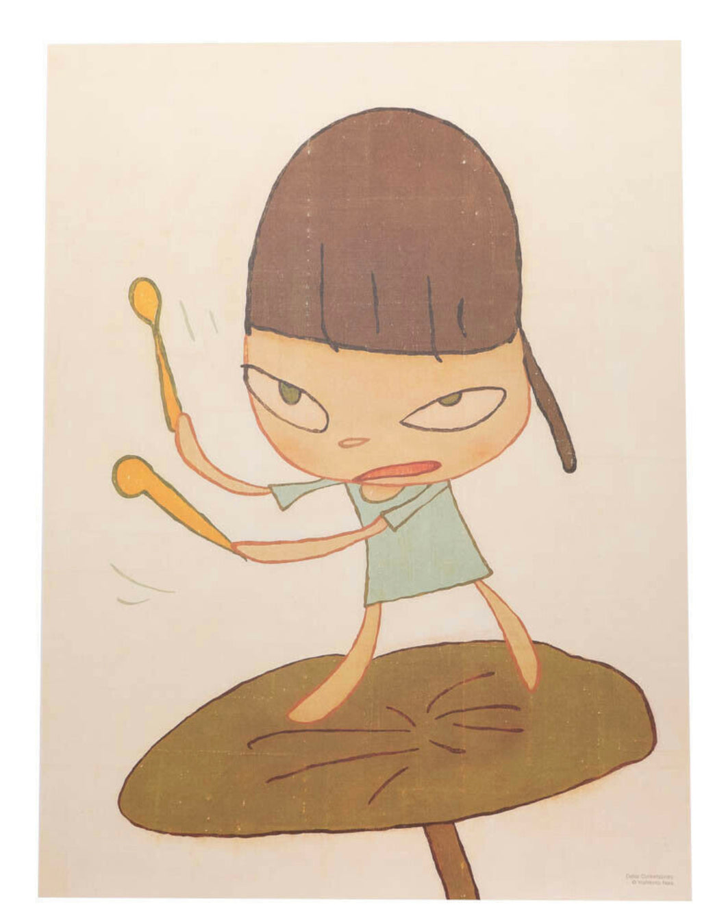 Yoshitomo Nara 'Marching on a Butterbur Leaf'