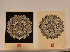 Shepard Fairey 'Mandula Ornament 1 & 2'