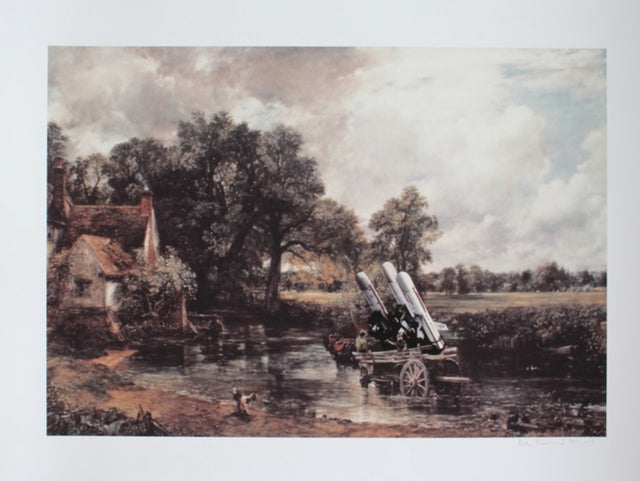 Peter Kennard 'Haywain with Cruise Missiles'