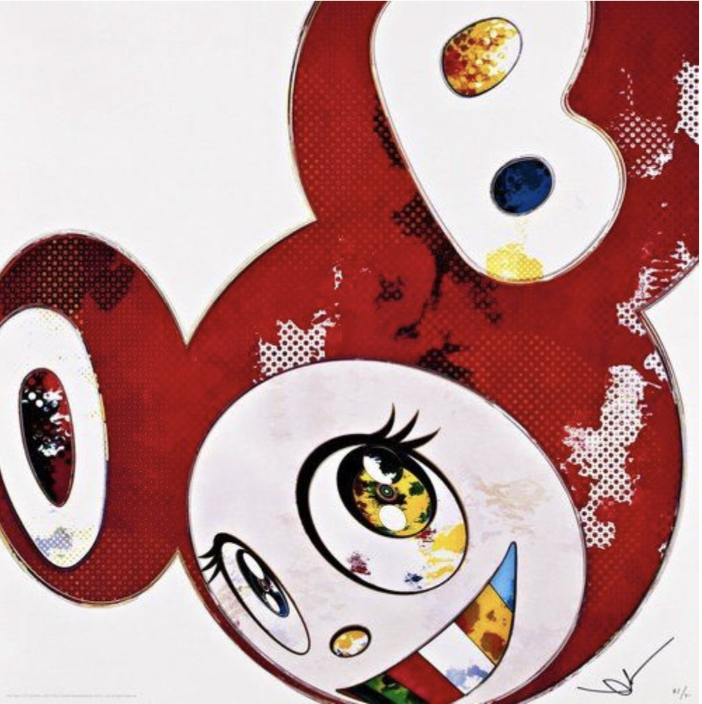 Takashi Murakami 'And Then x6 (Red: Polke Method)'