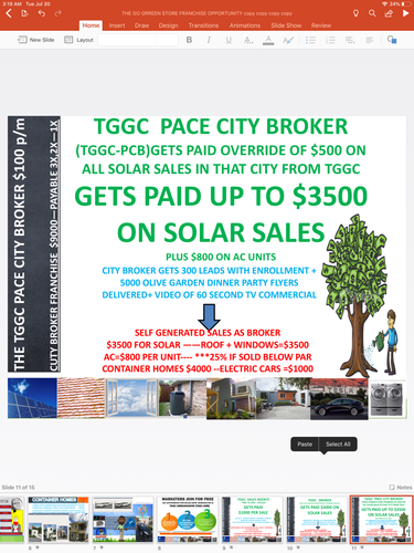 TGGC GO GREEN CITY BROKER