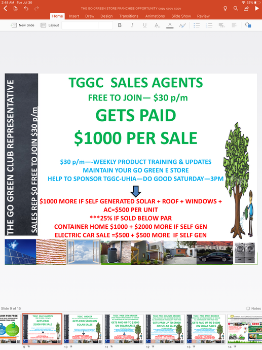 TGGC MARKETING / SALES AGENT