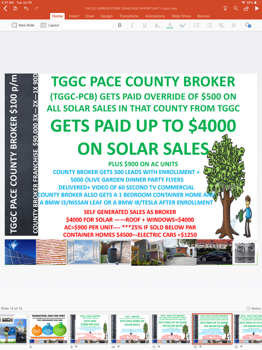 TGGC  GO GREEN COUNTY BROKER