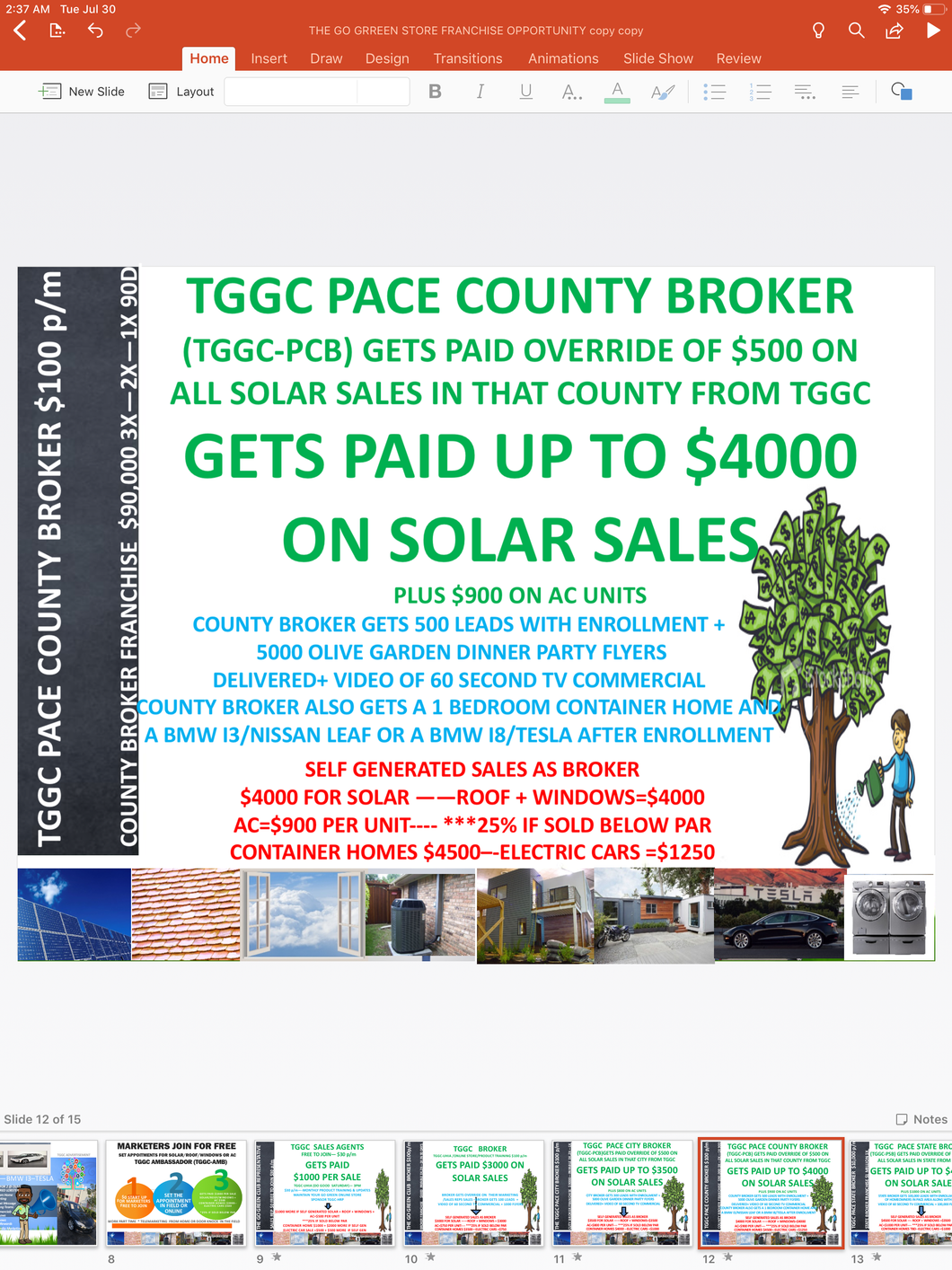 TGGS  GO GREEN COUNTY BROKER