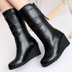 All Match PU Wedge Boots