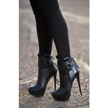 Back Zipper Plain Ankle Platform Round Toe Women's Boots