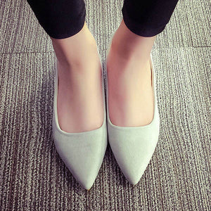 PU Pointed Toe Flats