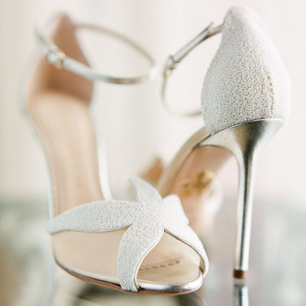 White Sea Star Stiletto Sandals