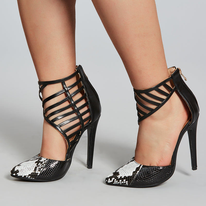 Hollow Serpentine Low-Cut Upper Pumps
