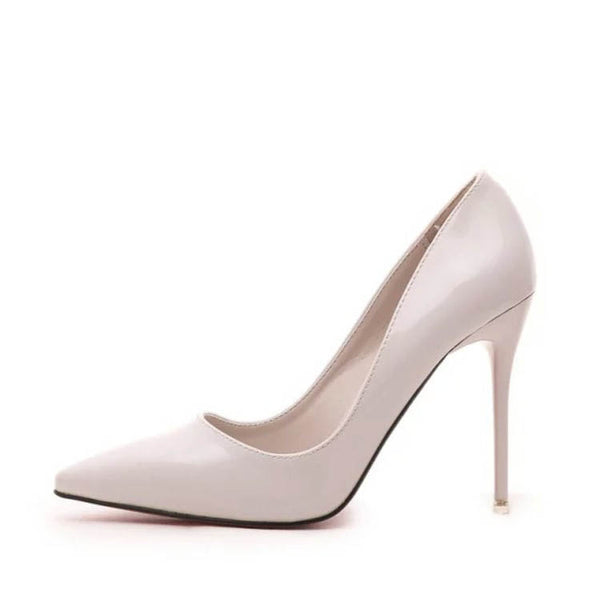 Pointed Toe Slip-On Stiletto Ultra-High Heel Women's Pumps