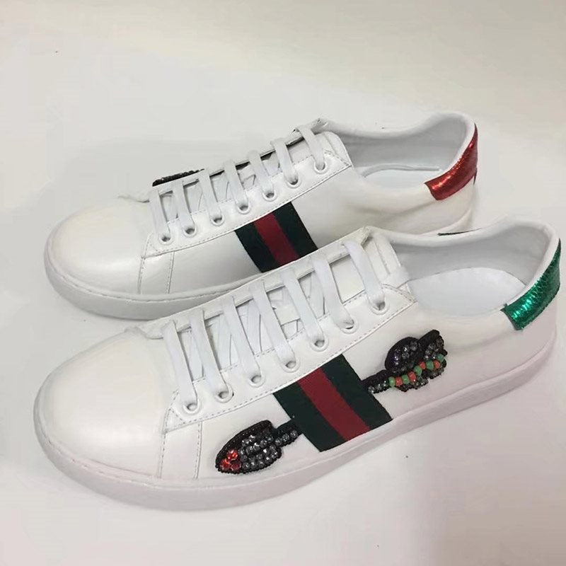 Rhinestone Stripe Low-Cut Upper Sneakers