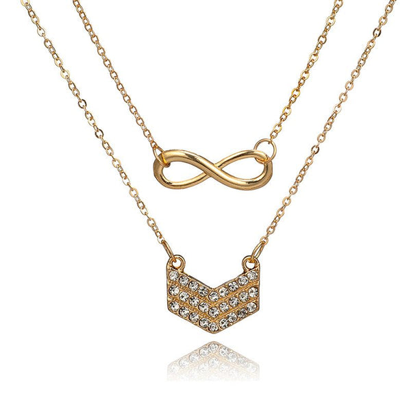 Diamante European Plain Female Necklaces
