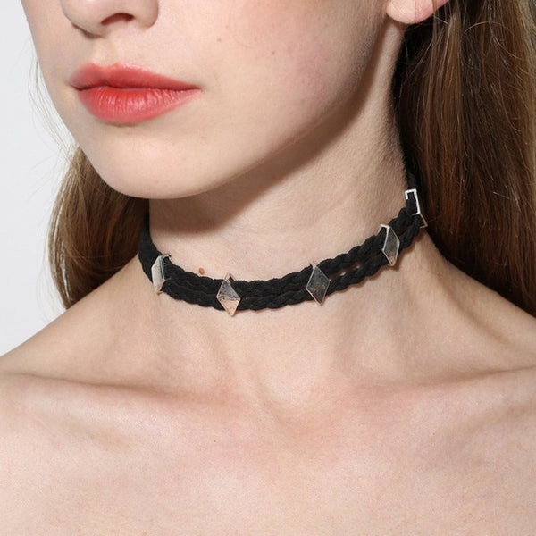 Woven Choker Necklace European Female Necklaces