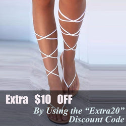 Gladiator Flat Lace Up Suede Knee High Strappy Sandals