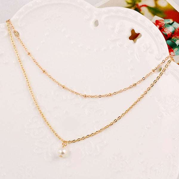 Geometric Pendant Necklace Korean Female Necklaces