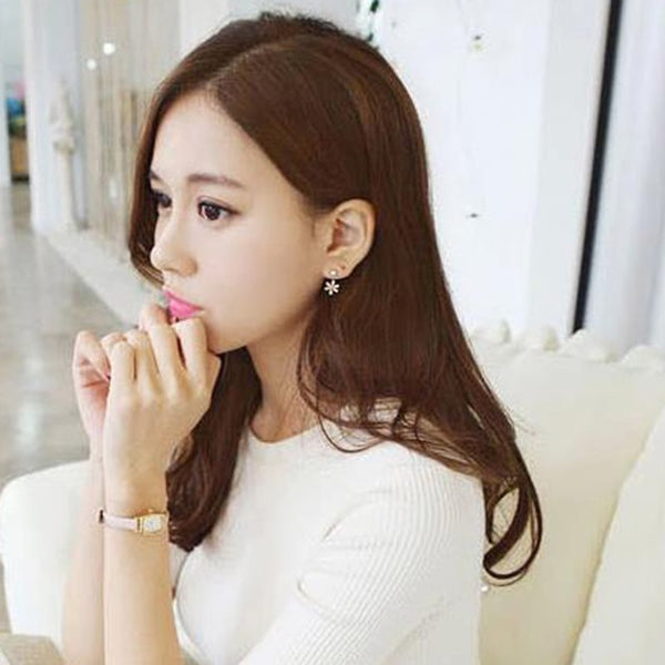 Korean Alloy Diamante Prom Earrings