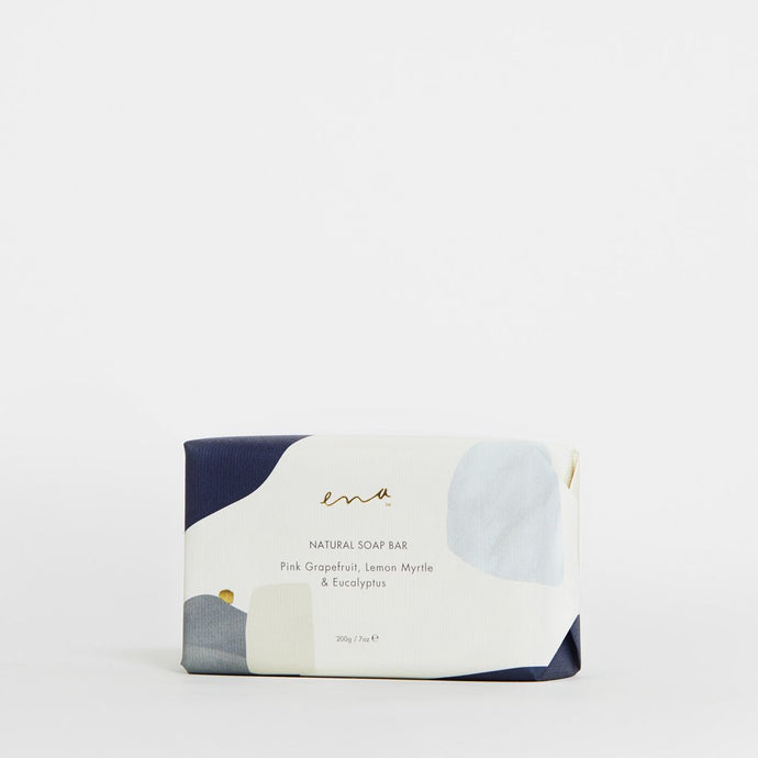 Ena Natural Soap Bar 200g Pink Grapefruit, Lemon Myrtle & Eucalyptus