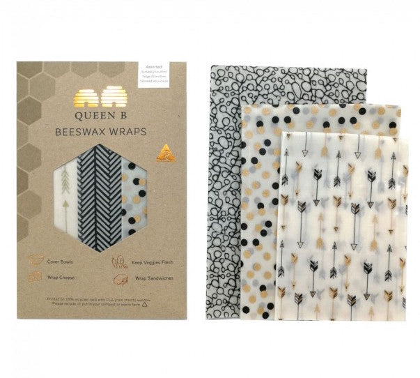 Neutral Beeswax Wraps Assorted (Pack of 3)