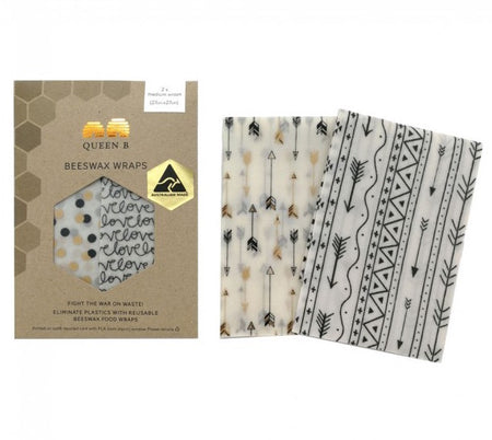 Neutral Beeswax Wrap Medium (Pack of 2)