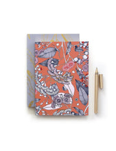 Load image into Gallery viewer, Notebook Corymbia Orange & Mauve A6 (Pack of 2)
