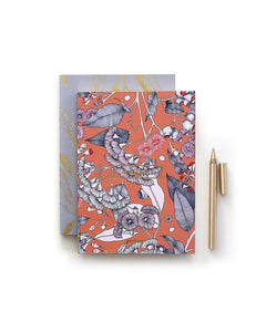 Notebook Corymbia Orange & Mauve A6 (Pack of 2)