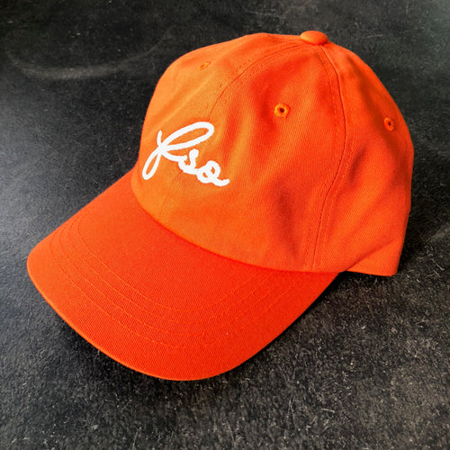 561 Hat Dad Cap FSO Script Orange/White