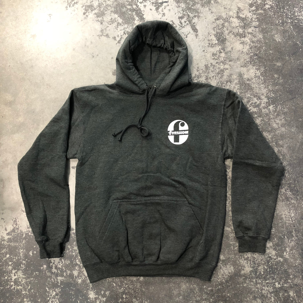 561 Sweatshirt Hoodie Foremost Charcoal Heather/White