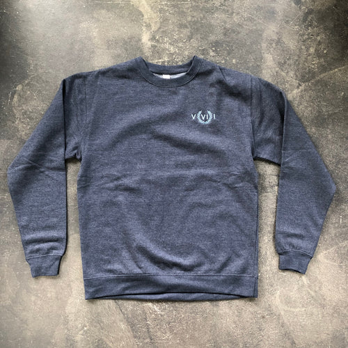 561 Sweatshirt Crewneck Numeral Heather Navy