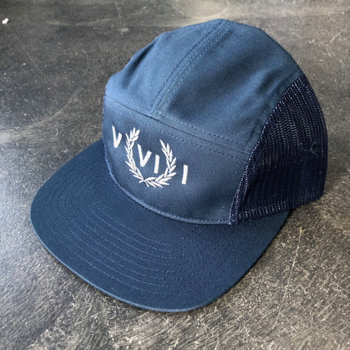 561 Hat 5 Panel Mesh Perry Numeral Navy/Grey