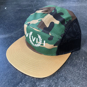 561 Hat 5 Panel Mesh Perry Numeral Camo/Tan/Black