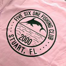 561 Longsleeve T-shirt Fishing Club Light Pink/Forest Green