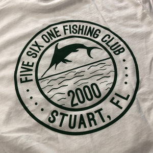 561 Longsleeve T-shirt Fishing Club White/Forest Green