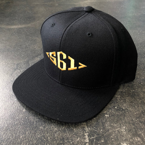 561 Hat Snapback Diamond Monogram Black/Gold