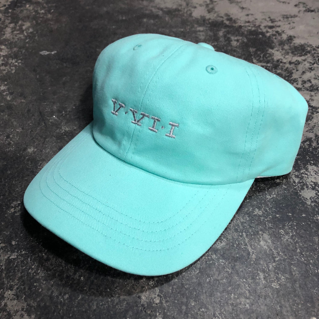 561 Hat Dad Cap Simple Roman Turquoise/Silver