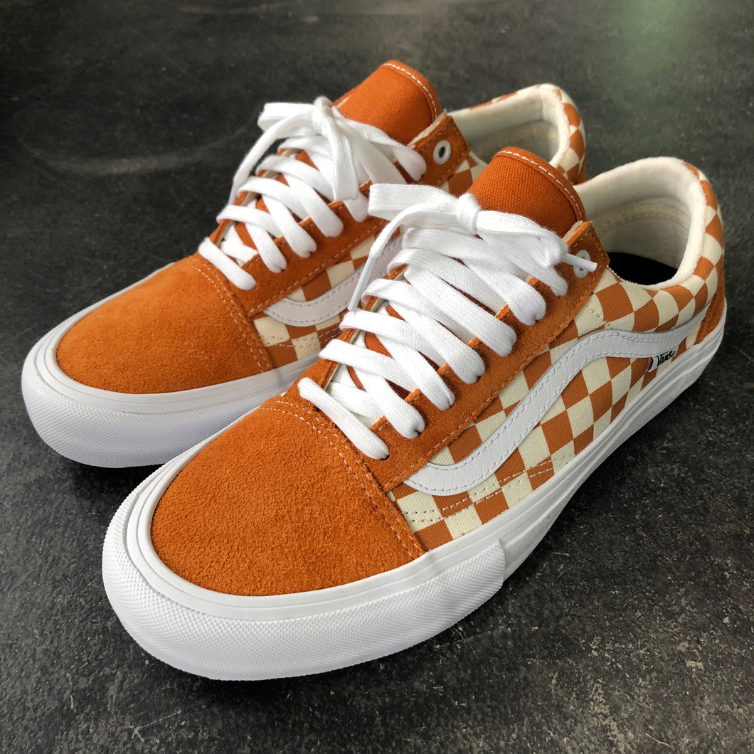 Vans Old Skool Pro Checkerboard Golden Oak