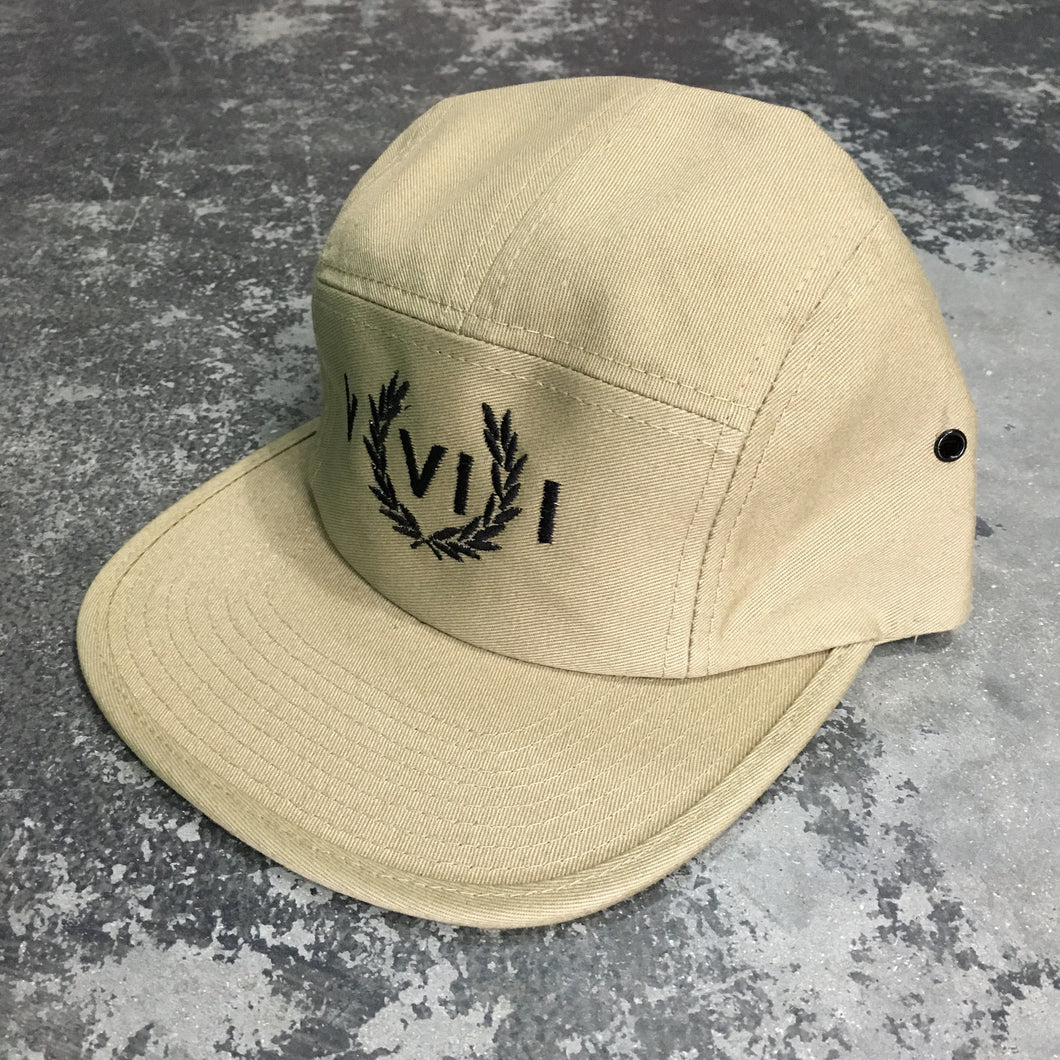 561 Hat 5 Panel Perry Numeral Khaki/Black