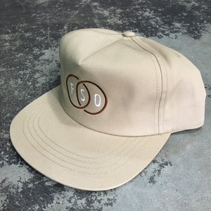 561 Hat Unstructured Snapback FSO Circles Khaki/White