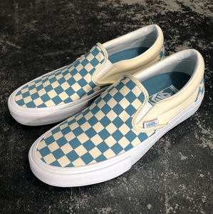 Vans Slip On Pro Checkerboard Adriatic Blue