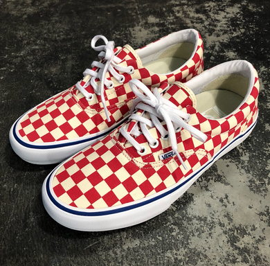 Vans Era Pro Checkerboard Rococco Red