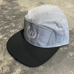 561 Hat 5 Panel Numeral Grey/Black