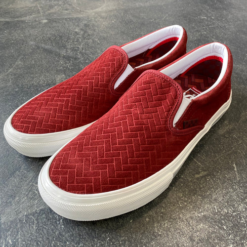 Vans Skate Slip On NJ Brick/White