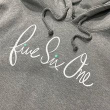 561 Sweatshirt Hoodie Script Dot Heather Grey/White/Teal