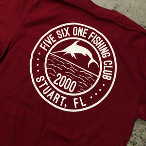 561 T-shirt Fishing Club Burgundy/White