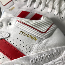 Adidas Tyshawn White Leather Ftwwht/Scarle