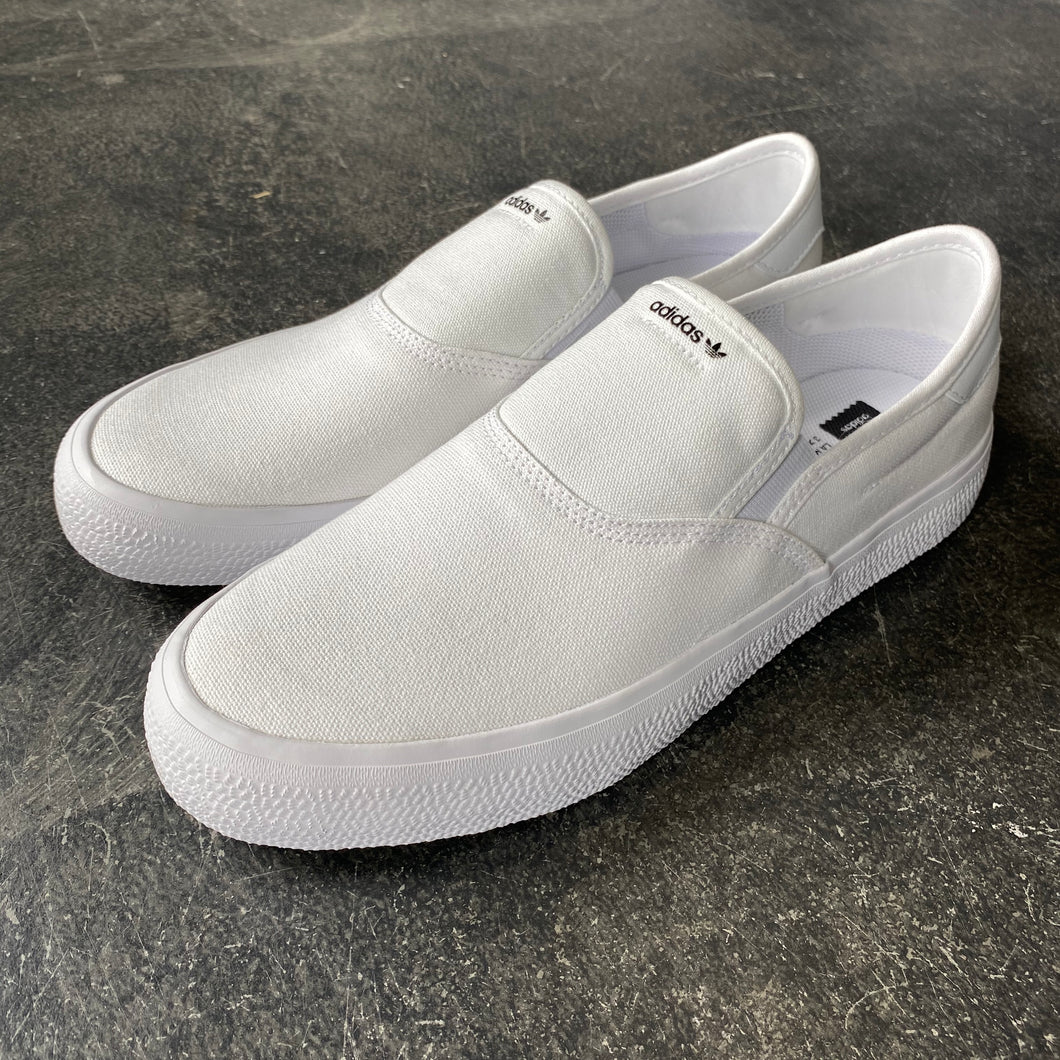 Adidas 3MC Slip On White Canvas