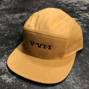 561 Hat 5 Panel Mesh Perry Numeral Mustard/Black