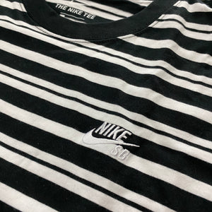 Nike SB Striped Loose Fit T-Shirt Black/White